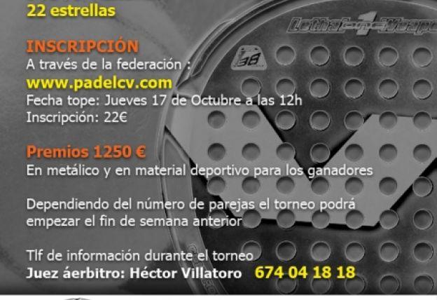 Torneo Plata 22 estrellas de la Comunidad Valenciana